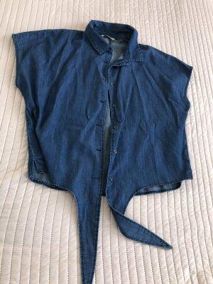 Orsay Chemise à manches courtes bleu acier