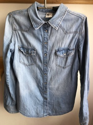 H&M Camisa vaquera azul