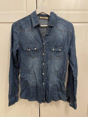 Jeansowa koszula jasnoniebieski-jasnoniebieski