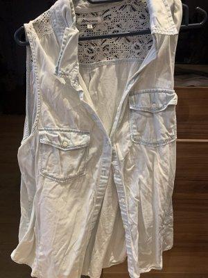 Ann Christine Denim Shirt white-azure