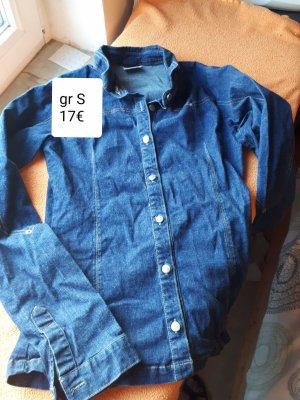 Blouse en jean bleu