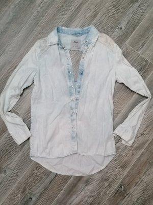 Jeans Hemd Bluse Gr. 36/38 hellblau, Rückenfrei
