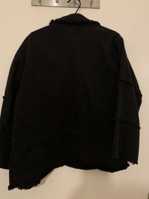 Zara Spijkershirt taupe-zwart Gemengd weefsel