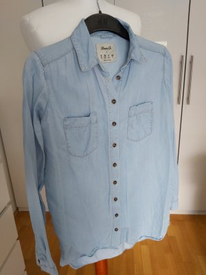 Denim Co. Blusa vaquera azul celeste