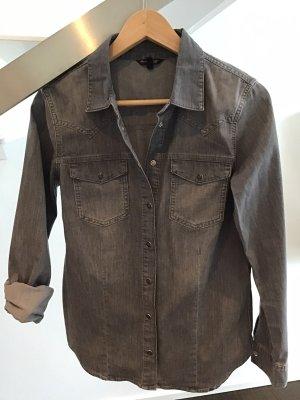 Massimo Dutti Chemise en jean gris