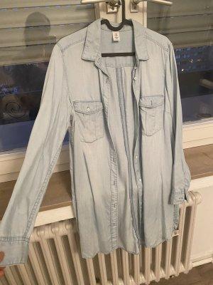 H&M Chemise en jean bleu azur-bleu pâle