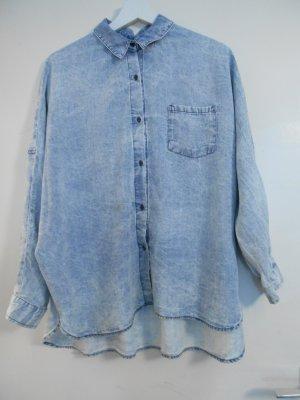 Jeans-Hemd Jeans Oberteil Zara Gr. M im Oversize-Stil
