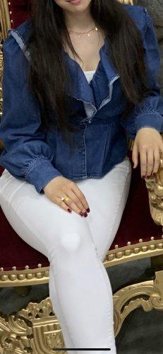 Jeans hemd mit Volant