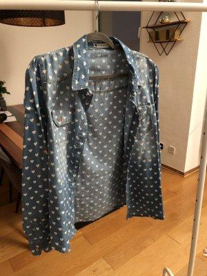AIKI KEYLOOK Jeansowa koszula błękitny-niebieski