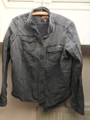 Jeans Hemd schwarz Superdry 42