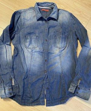 edc by Esprit Jeansowa koszula niebieski