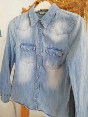 Jeans Hemd von Mango in Gr. M