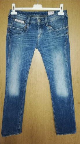 Blaustoff Herrlicher Pantalón de cinco bolsillos azul