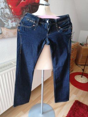 Blaustoff Herrlicher Low Rise jeans blauw-donkerblauw