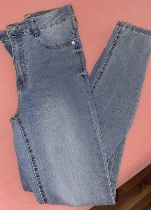 Gina Tricot Jeans taille haute bleu azur-gris ardoise