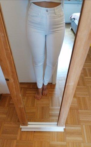 Jeans High Waist weiß Gr. 36