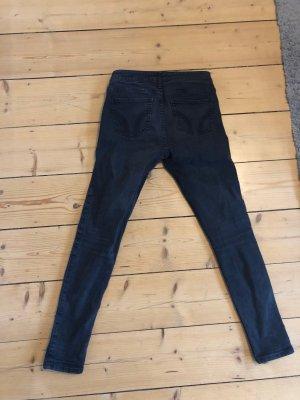 Hollister pantalón de cintura baja negro