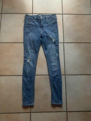 Hollister High Waist Trousers blue