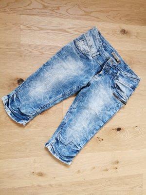 Fishbone Jeans a 3/4 azzurro