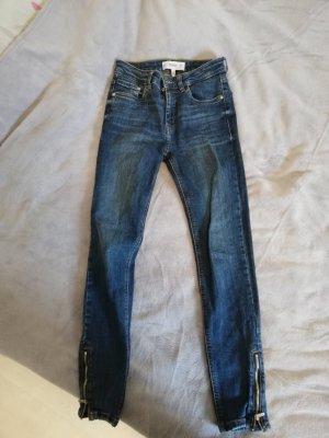 Mango Jeans Haut-de-chausse bleu foncé