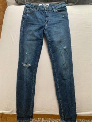 Bershka Low Rise jeans donkerblauw