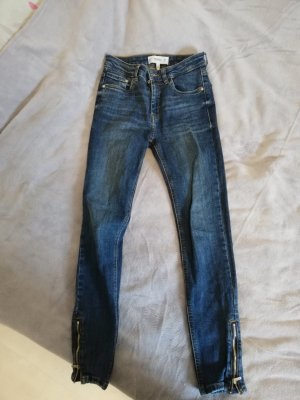 Mango Jeans Pantalón pitillo azul oscuro