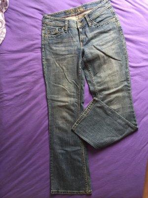 Esprit Pantalon taille basse gris ardoise