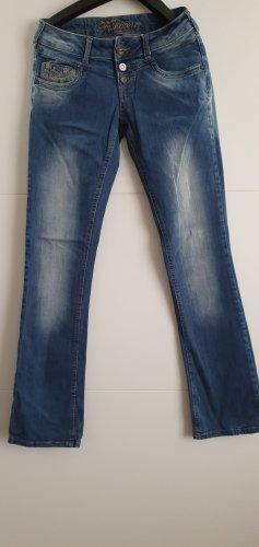 Fishbone Spodnie Marlena niebieski