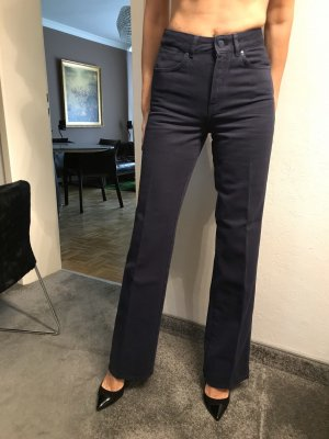 Massimo Dutti Hoge taille jeans donkerblauw