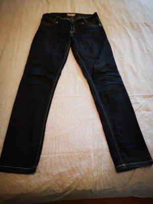 Jeansy z prostymi nogawkami ciemnoniebieski