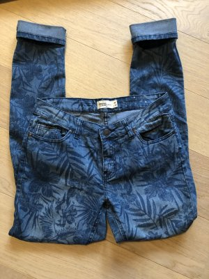 Jeans Hose blau gemustert Skinny stretch Gr. 40
