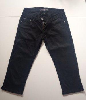 Jeans-Hose, Caprihose, kurze Hose von Madonna, Strasssteine, schwarz, Größe S