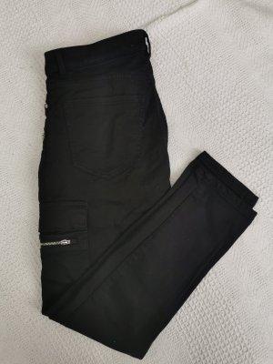 Mango Pantalón de camuflaje negro