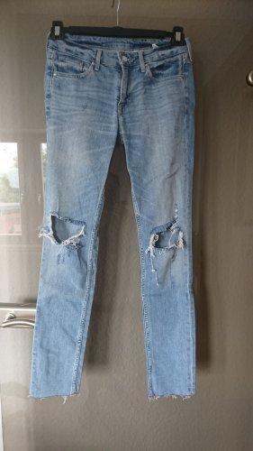 & DENIM Pantalón de cinco bolsillos azul celeste Algodón