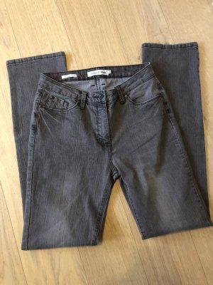 Jeans Hose Denim grau Straight stretch Gr. 38