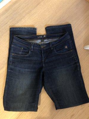 Esmara Jeansy z prostymi nogawkami ciemnoniebieski-niebieski