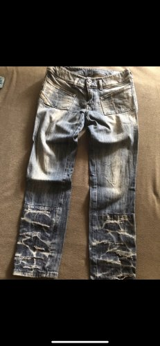 Diesel 3/4 Length Jeans steel blue-blue