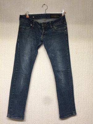 Daniel Stern Low-Rise Trousers dark blue