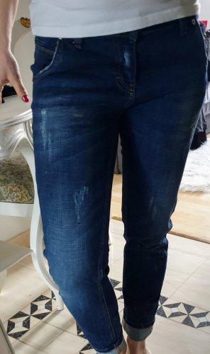 Boutique Ware Jeans vita bassa blu scuro