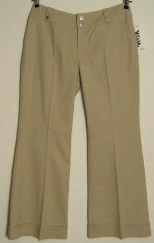 Y.O.U. Pantalon pattes d'éléphant beige