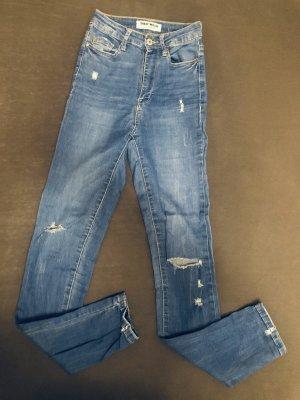 Tally Weijl Jeans taille haute bleu azur