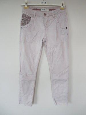 Mos Mosh Slim jeans lichtroze Katoen