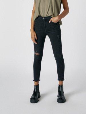 Jeans Hose Skinny Cropped schwarz topshop pants