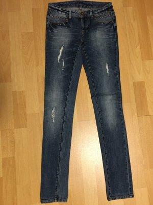 Jeans Hose skinny destroyed Größe 26 blau