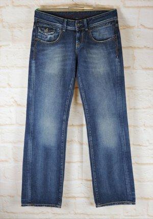 Jeans Hose Tommy Hilfiger Denim Größe W29 L32 S 36 Blau Gerade Waschung Low Waist