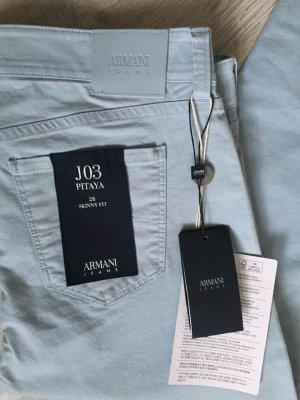 Armani Jeans Pantalon cinq poches bleu azur coton
