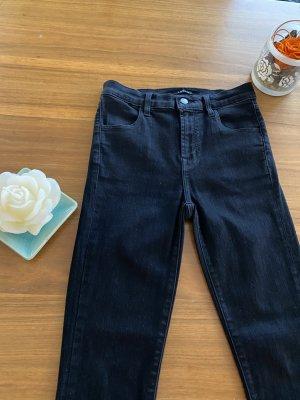 1 brand Jeansy o obcisłym kroju czarny Bawełna