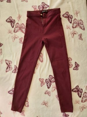 Jeans Hose weinrot