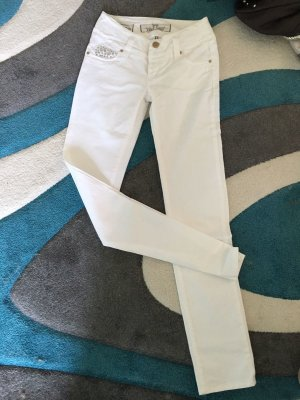 Jeans Hose weiß take two Strass neu Gr 27/34 nisha