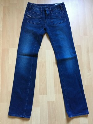 Diesel Low Rise Jeans dark blue mixture fibre